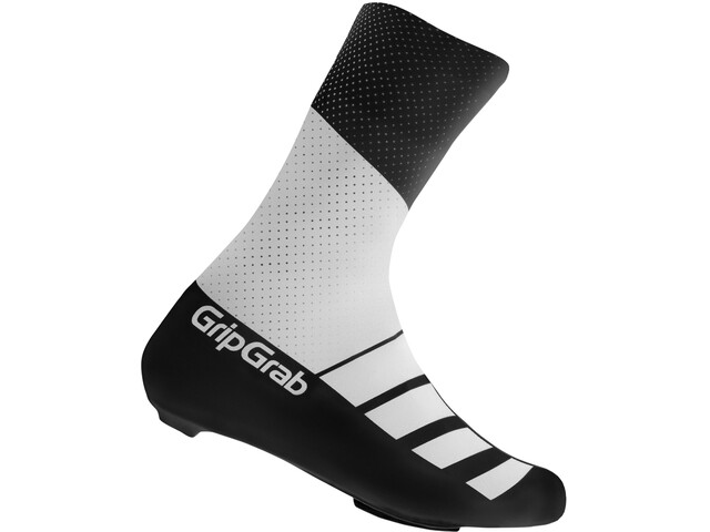 GripGrab RaceAero TT Raceday Lycra Shoe Cover white/black